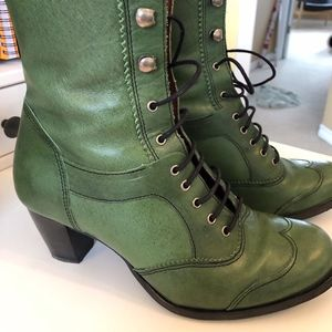 Decode Shoes - Decode Leather Granny Boots